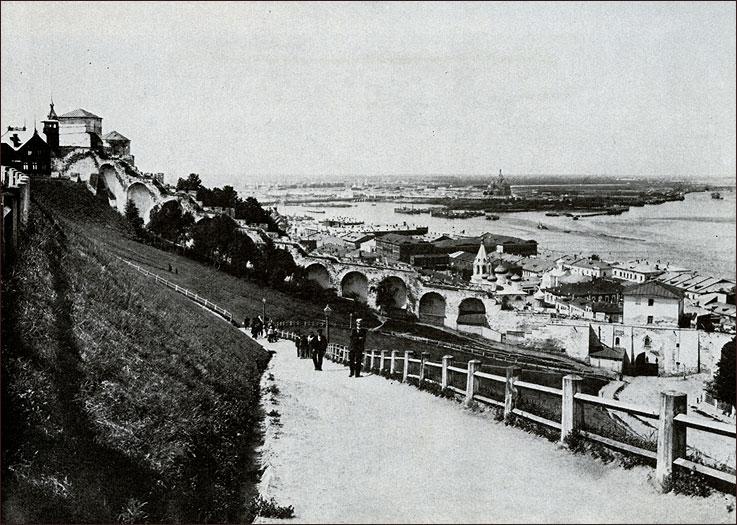 Спуск к Ивановской башне, фотографии Нижнего Новгорода